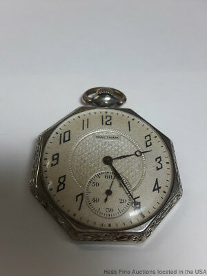 Strong Running Waltham Art Deco Octagonal Pocket Watch
