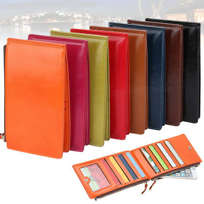 Ladies Womens New Design Soft Leather Purse Credit Card Coin Holder Zip Wallet