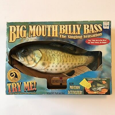 Big Mouth Billy Bass Singing Fish 1998 Vtg Original Box Don't Worry Be Happy