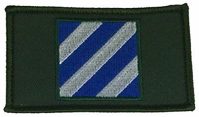 Us Army 3Rd Third Infantry Division Id Two Piece Patch W/ Hook And Loop Backing
