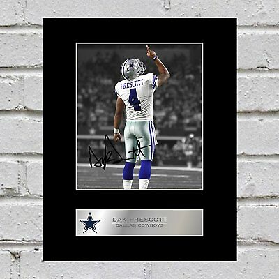 Dak Prescott Signed Mounted Photo Display Dallas Cowboys