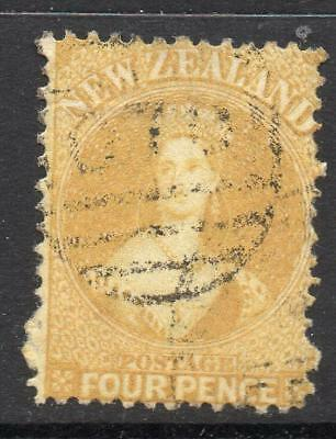N.Z. 1866 4d. SG 120 Good Looking Quality Fine Used Stamp No Hidden Faults Nice*