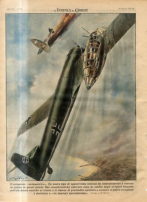 1942 The new German Nazi asymmetrical airplane fight with British airplane Print