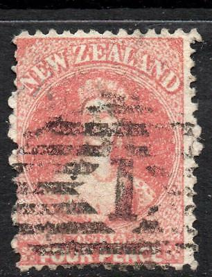 N.Z. 1865 4d. SG 119 Good Looking Quality Fine Used Stamp No Hidden Faults Nice!