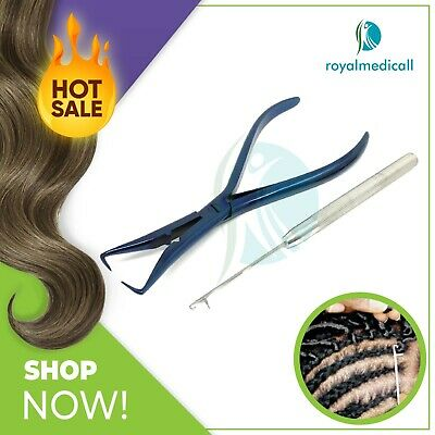 Hair Extension Removing Pliers Clamp Blue, Crochet Feather Needle