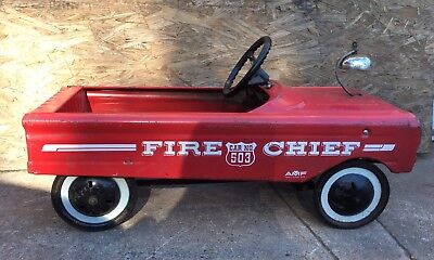 Early 1960's Vintage AMF Fire Chief 503 Pedal Car 100% Original