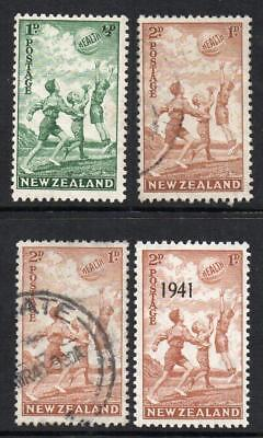 NEW ZEALAND  1940/41 Health 4 Stamps M.Mint  or Fine Used Sound & Collectable