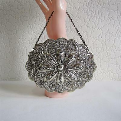 Beautiful Antique/Vintage Indian Silver Hanging Mirror