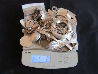 1 Kilo Scrap Sterling Silver, Spoons, Forks, Coins, Jewellery.