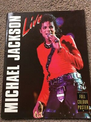 Michael Jackson Live 1988 -First Solo Tour book & Full Colour Poster Collectable