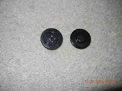 US Coast Guard/Navy Peacoat buttons (Black) Free Shipping!