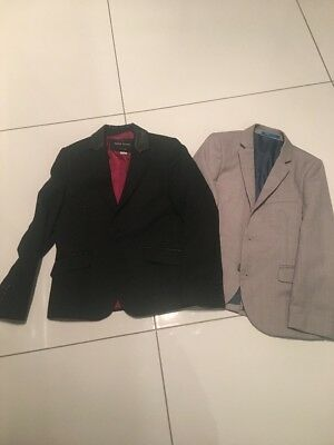 x2 Boys Fitted Blazers Suit Jacket Age 7 River Island And Next Black Grey