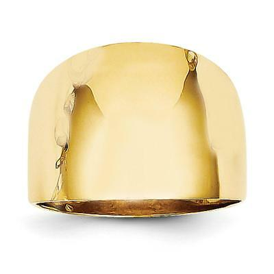 14k Yellow Gold Polished Dome Ring R333 Size 6.5
