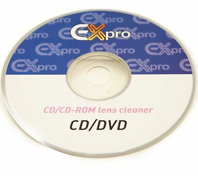 Ex-Pro® CD DVD CD-Rom Games Console - Lens Cleaner Cleaning with Fluid.