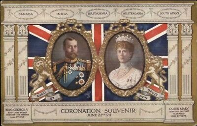 1911 Coronation King George V & Queen Mary TUCK 9860 Postcard