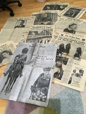 King A George VII death Newspapers X 8 Inc.Silver Edition Ephemera Collection