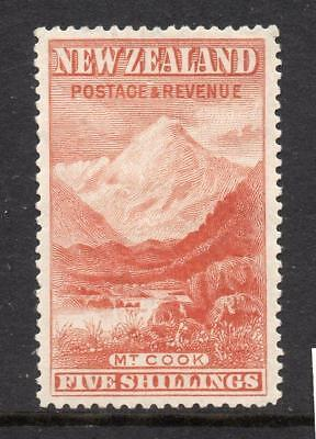 N.Z. 5/-  SG 259  Mint No Gum  Very Collectable No Hidden Faults BUT see notes