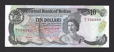 1987 Belize $10 Dollars, Very Crisp and 100% Original, VF+ w/EPQ P-48a