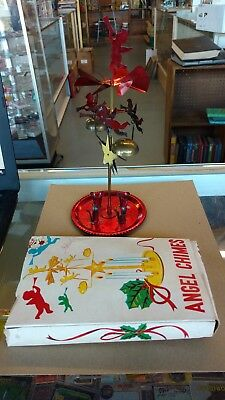 Vinatage Japan Christmas Angel Party Candle Chimes w/Box