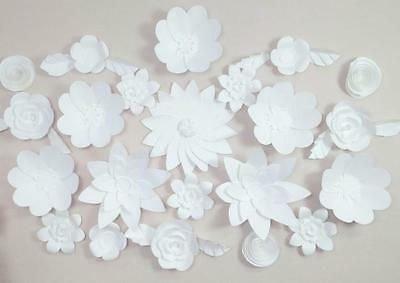 Discounted 14 pc Giant Paper Flower Set Wall Decor, Birthday, Event, Wedding