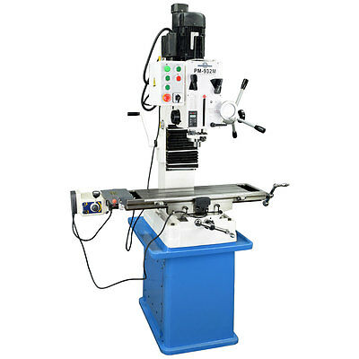 """PM-932M 9x32"""" VERTICAL MILLING MACHINE R8 SPINDLE X-AXIS POWER FEED 3YR WARRANTY"""