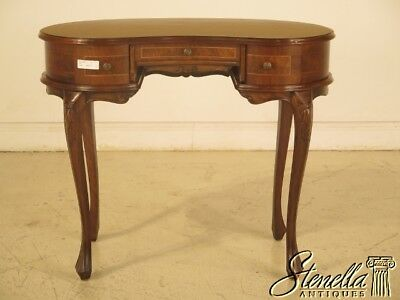 43077E:  Italian Walnut Kidney Shaped Small Writing Desk