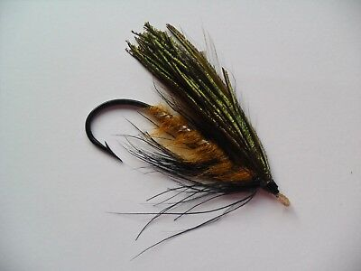 Helmsdale or Brown Peacock Size 7/0 Vintage Gut Eye Salmon Fly Date 1920's