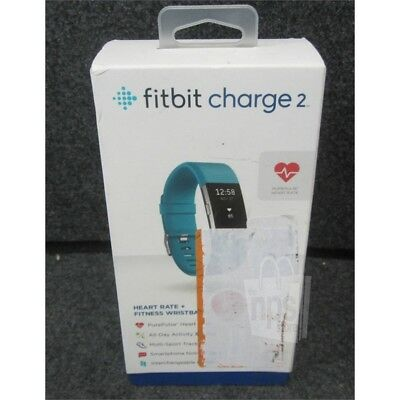 Fitbit FB407STES Charge 2 Heart Rate + Fitness Wristband Small Teal