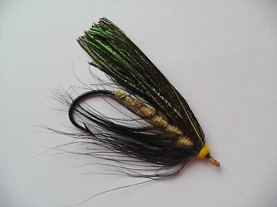 Beauly Snow Fly Size 5/0 Vintage Gut Eye Salmon Fly Date early 1900's