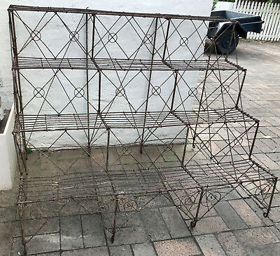 Large Antique Vintage Wire Work Plant Stand C1880 Free Melb Delivery W Bin!