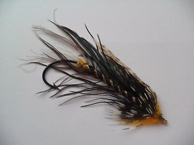 Black King Size 8/0 Vintage Gut Eye Salmon Fly Date early 1900's
