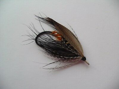 Black Heron Size 2/0 Vintage Gut Eye Salmon Fly ? UNUSED Date about 1920