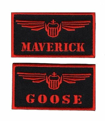 Goose-Maverick Top Gun movie Bundle 2pcs Iron on Sew on Patch