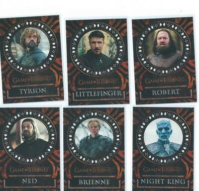 2017 Game Of Thrones Valyrian Steel Laser Cut Complete 18 Card Set