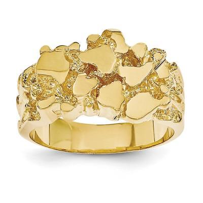 14k Yellow Gold Men's Nugget Ring NR20 Size 9.5