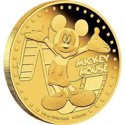 Niue 2014 $25 Disney Mickey & Friends 2014 Mickey Mouse 1/4 Oz Gold Proof Coin