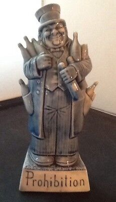 Schafer & Vater Figural Nipper Flask - Prohibition - Jolly Man w/ Liquor Bottles