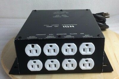 NSI ND 4600 Programmable Dimmer Pack 4 Channel 600 Watts Audio Filtering Working