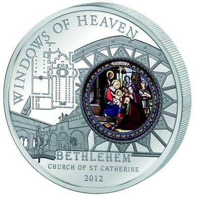 Cook 2012 Windows of Heaven Bethlehem Church St. Catherine 50g Silver Proof Coin