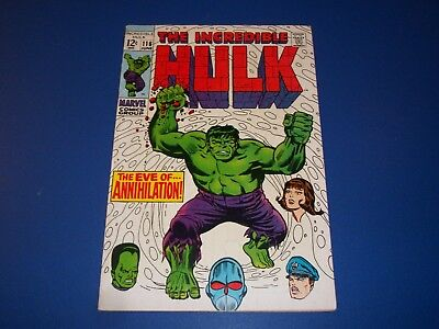 Incredible Hulk #116 Silver Age Leader Great Cover Solid VGF