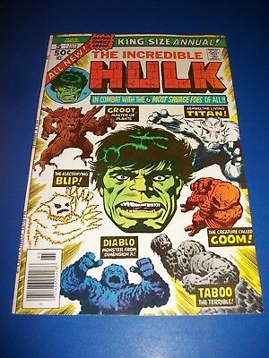Incredible Hulk Annual #5 Bronze Age 2nd Groot Key Issue wow VF Beauty