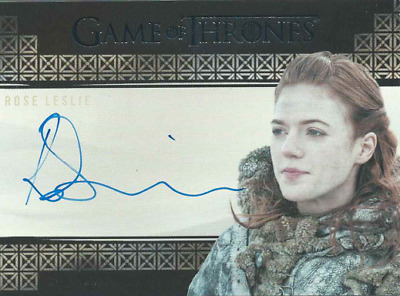 2017 Rittenhouse Game Of Thrones Valyrian Steel Auto Rose Leslie As Ygritte