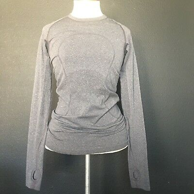 Ivivva by Lululemon Girls Gray Run Smooth Top Size M