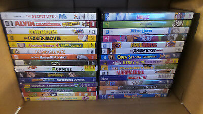 Lot of 30 Different DVD Children and Family Movies (Lot 516)