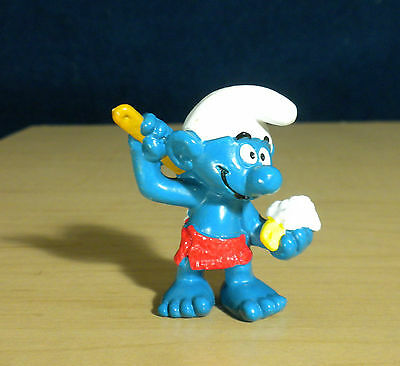 Smurfs Sauna Smurf Bathing Soap Bath Towel Vintage Figure Schleich Toy PVC 20108