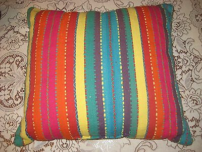 25'' X 23'' Bright Multi-Colored Striped Pillow Extra Large Big Floor Cushion