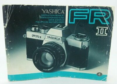 YASHICA FR II film Camera Instruction Manual 72p
