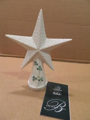 Belleek Bethlehem Star Tree Topper w/ Shamrocks & COA