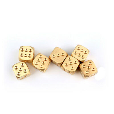 5 sets Solid Brass Dice Club Bar Supplies Dice Copper Alloy Drinking Dice