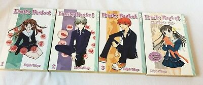 Fruits Basket Volumes 1 - 3  plus Fanbook - Cats- Manga Book Lot
